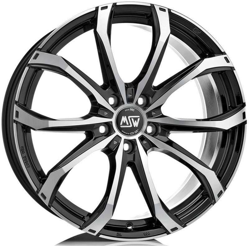 Janta aliaj MSW 48 Matt Black Full Polished 8x18 5x114,30 ET45