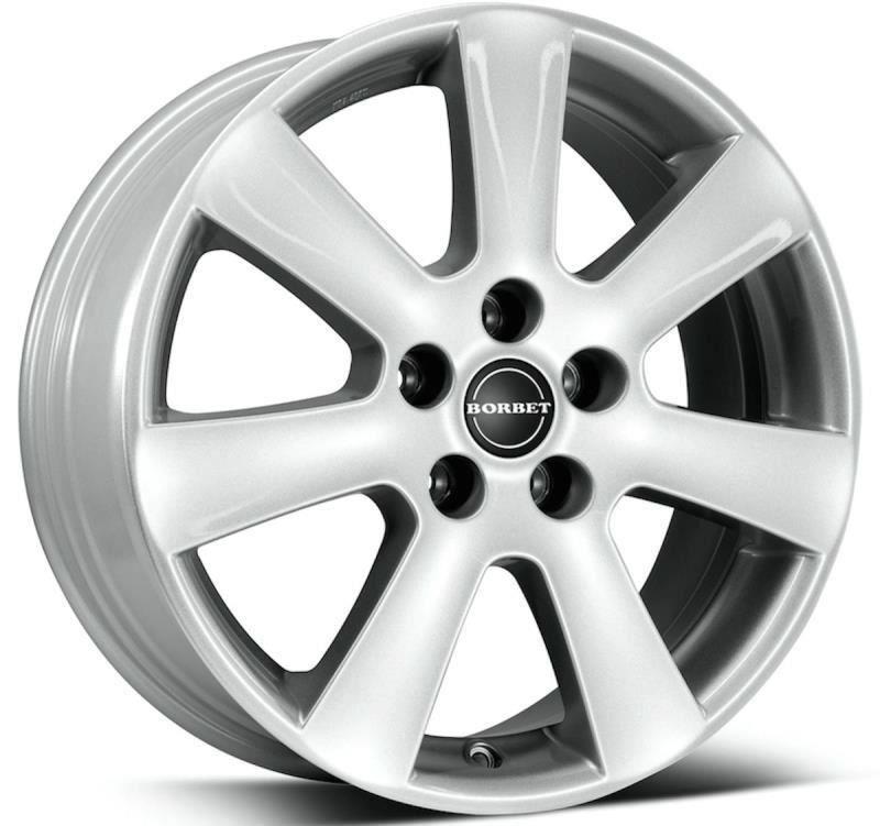 Janta aliaj BORBET CA Crystal Silver 6.5x15 4x100 ET45 Pentru Dacia Logan